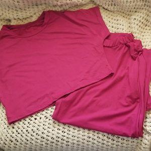 Pants - Nice Fuscia 2-piece pants outfit Large